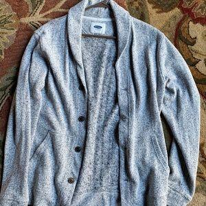Old Navy Sweater, Gray Shawl Collar Cardigan